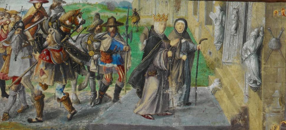 A Rainha Santa Isabel em peregrinação a Santiago de Compostela