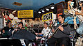 A Sailor plays the drums with Big Al Carson and the Blues Masters at the Funky Pirate Blues Club in New Orleans..jpg