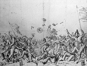 John Brown (doctor) - Depiction of a brawl between Brunonian and anti-Brunonian students.