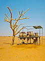 A set of traditional wat jugs at a rest stop between Khartoum and Karima, Sudan.jpg