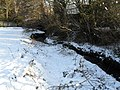 A snowy Hermitage flowing past Leigh Park Vicarage - geograph.org.uk - 1658768.jpg