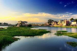 Vaigai River - Vaigai River in Madurai, Tamil Nadu