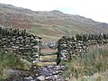 A wall above Rydal Beck - geograph.org.uk - 607825.jpg