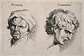 A weeping face (left) and a facing expressing compassion (ri Wellcome V0009324.jpg
