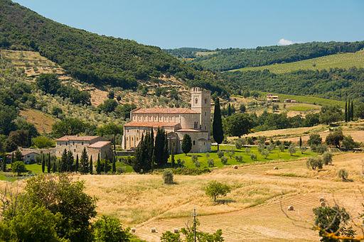Abbazia di Sant'Antimo, Castelnuovo dell'Abate, Montalcino, Province of Siena, Tuscany, Italy