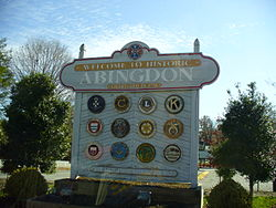 Abingdon Welcome Sign
