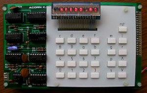 Acorn Computers - The Acorn System 1, upper board; this one was shipped on 9 April 1979.