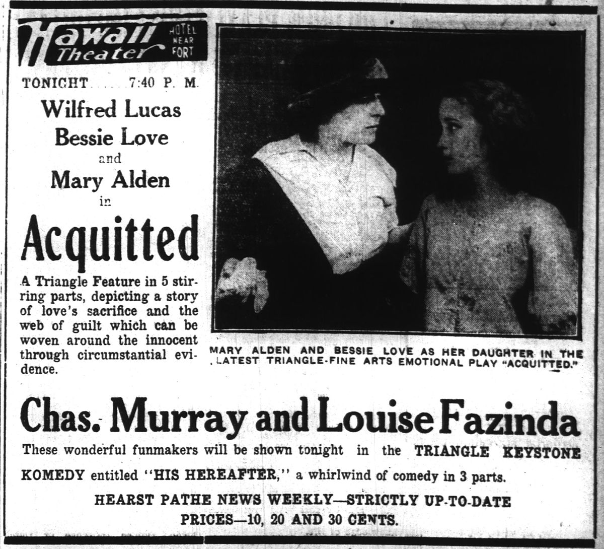 Acquitted (1916 film) - Wikipedia
