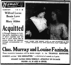 Acquitted (film) - Newspaper advertisement