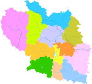 Changzhi - Image: Administrative Division Changzhi