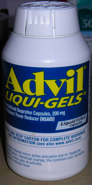 Advil Liquid Gel Bottle