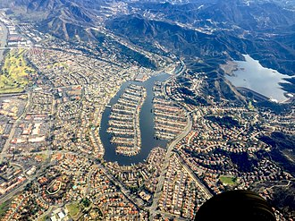 Westlake Village, California - Aerial view of the Westlake Village subdivision