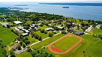 Portsmouth Abbey School - Image: Aerial View PAS