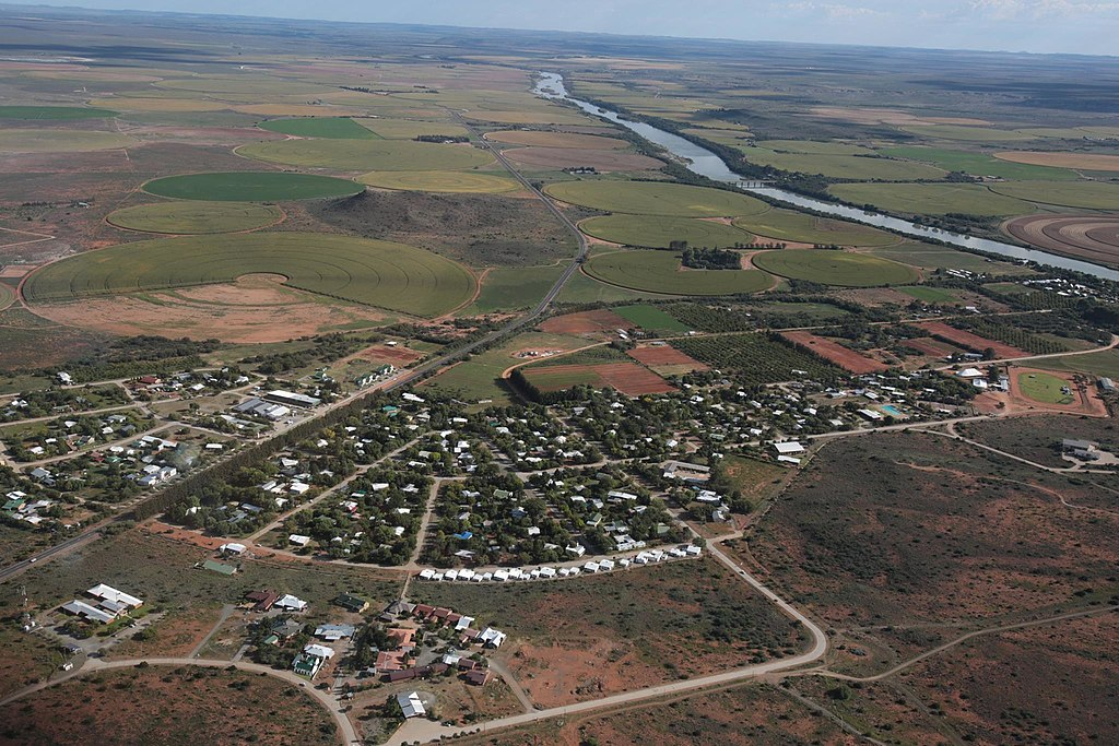 Aerial view of the town of Orania