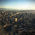 Aerial view of Downtown Seattle and Mt. Rainier, 1968.jpg