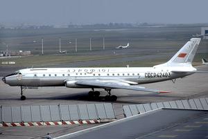 Aeroflot Flight 3932 - An Aeroflot Tupolev Tu-104B similar to the aircraft involved