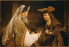 Aert de Gelder (Dutch - Ahimelech Giving the Sword of Goliath to David - Google Art Project.jpg