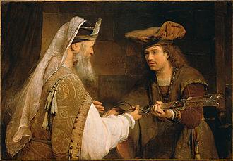 Aert de Gelder - Ahimelech Giving the Sword of Goliath to David