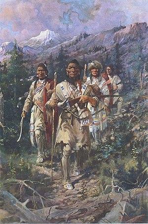 "Edgar Samuel Paxson - ""After the Whiteman's Book,"" Montana Capitol"