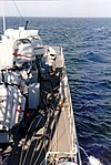 Afterdeck of the German fast attack craft S55 Alk (P6155) in the Baltic Sea on 28 August 1985.jpg