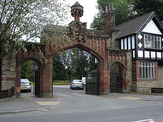 Agecroft Cemetery - Agecroft Cemetery main entrance, Langley Road