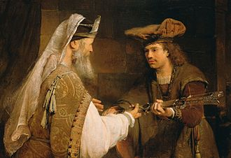 Ahimelech - Ahimelech giving the sword of Goliath to David, by Aert de Gelder.