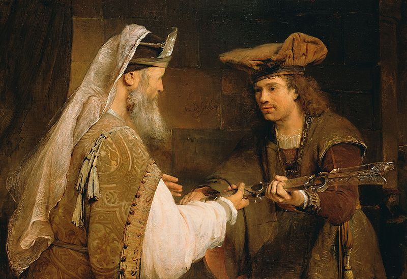 Bestand:Ahimelech Giving the Sword of Goliath to David.jpg
