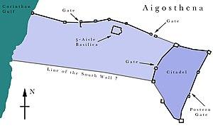 Aigosthena - Plan of Ancient Aigosthena.