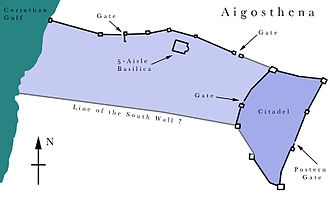 Aigosthena - Plan of Ancient Aigosthena.