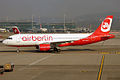 Air Berlin (operated by Belair), HB-JOZ, Airbus A320-214 (16270757197).jpg