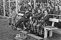 Ajax tegen MVV 2-1. V.l.n.r. op bank Rinus Michels, Theo van Duivenbode, Piet Ke, Bestanddeelnr 922-3456.jpg