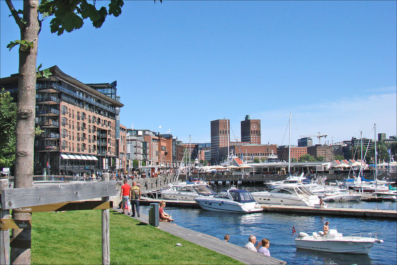 File:Aker Brygge (with City Hall).jpg