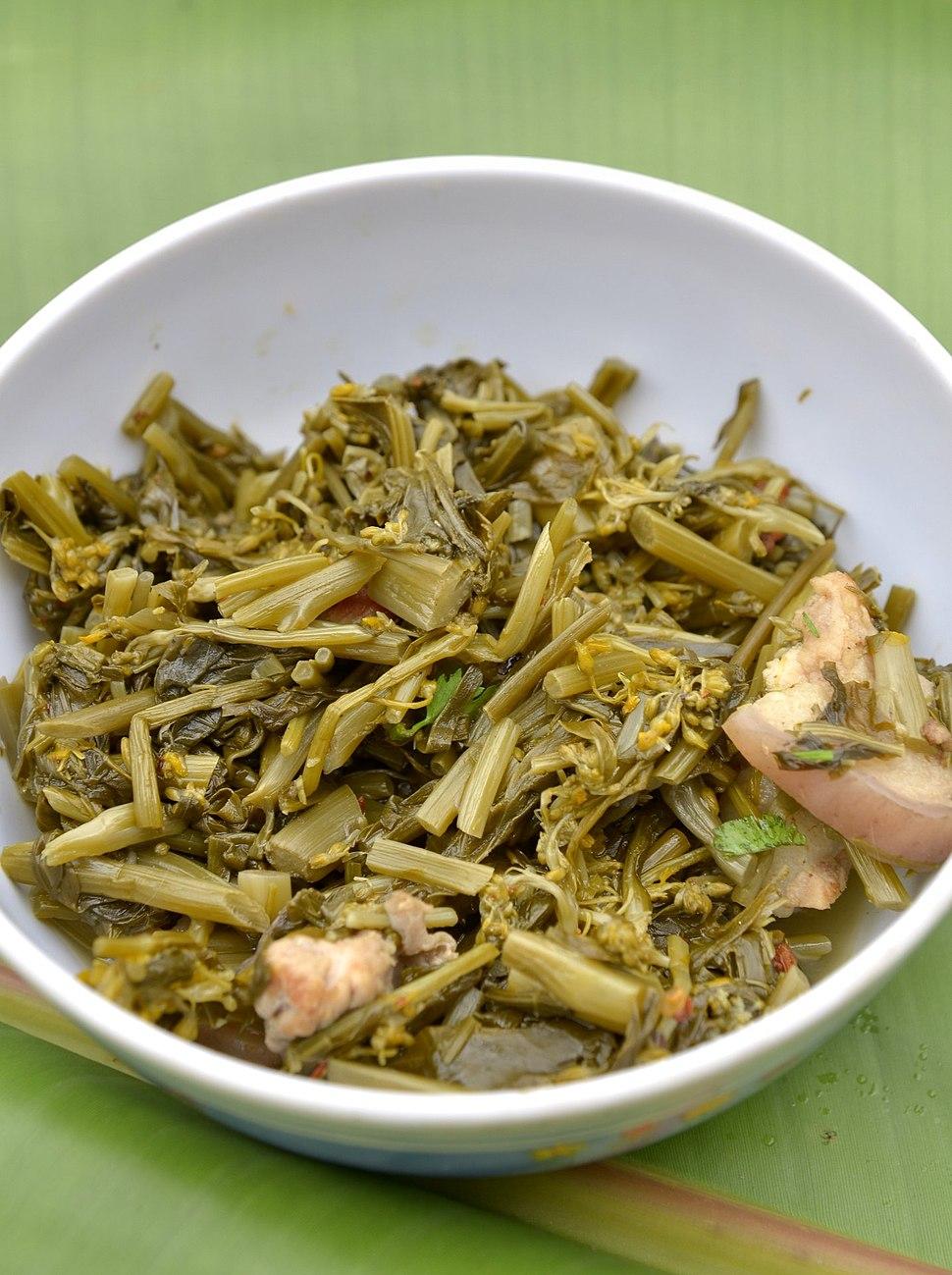 Akha cuisine Hoh-pa chae lu-uh