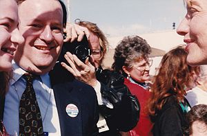 Al From - Al From greets Hillary Clinton the day after Bill Clinton's 1992 victory