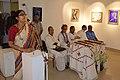 Alakananda Ghosh Performing Opening Song - Biswatosh Sengupta Solo Exhibition Inauguration - Kolkata 2015-07-28 3151.JPG