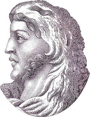 Alaric I - Portrait of Alaric in C. Strahlheim, Das Welttheater, 4. Band, Frankfurt a.M., 1836