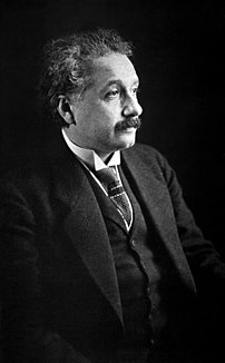 German-born theoretical physicist Albert Einstein