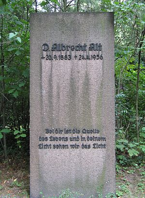 Albrecht Alt - Gravestone of Albrecht Alt at the Südfriedhof (Leipzig).