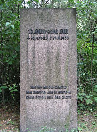 Albrecht Alt - Gravestone of Albrecht Alt at the Südfriedhof (Leipzig).