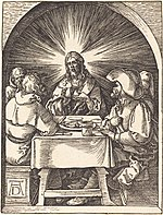 Albrecht Dürer, Christ in Emmaus, probably c. 1509-1510, NGA 6782.jpg