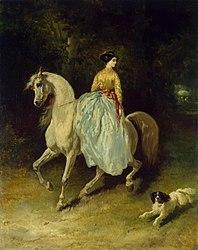Alfred de Dreux: Horsewoman (Amazon)