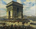 Alfred Theodore Joseph Bastien-Canadians Passing in Front of the Arc de Triomphe, Paris (CWM 19710261-0085).jpeg