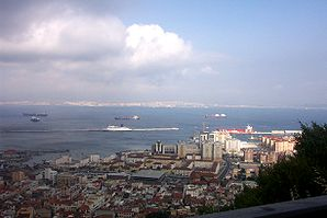 Algeciras von Gibraltar aus gesehen