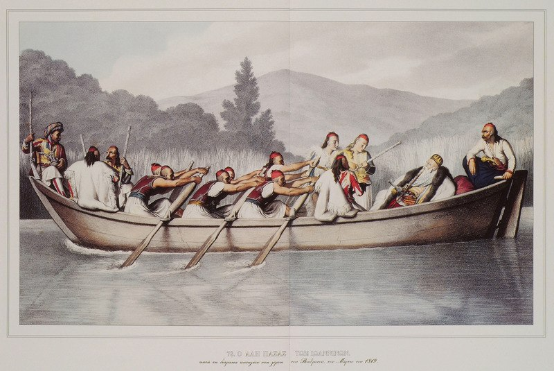 Ali Pasha of Ioannina, at a hunt at Butrint Lake in March 1819, by Louis Dupr%C3%A9 - 1819
