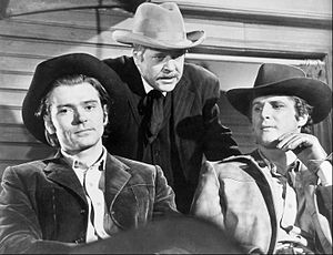 Alias Smith and Jones - L-R: Pete Duel, William Windom and Ben Murphy in Alias Smith and Jones (1971)