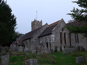All Saints' Church, Freshwater - Image: All Saints, Freshwater churchyard (13) (geograph 3668066)