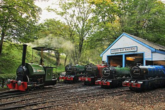 North Bay Railway - All the NBR engines, outside the shed, lined up for a photocharter event