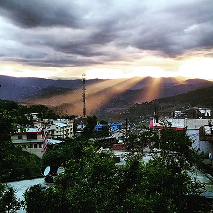view of Almora after rains Almora after rain sunlight.jpg