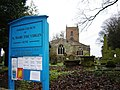 Alne Parish Church with name board - geograph.org.uk - 1206031.jpg