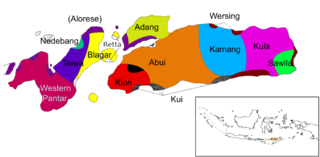 Alor–Pantar languages Papuan languages of Nusa Tenggara Timur, Indonesia